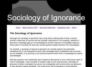 Sociology of Ignorance